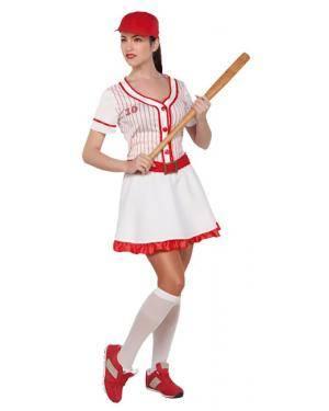 Fato Basebol ou Beisebol Mulher Adulto Disfarces A Casa do Carnaval.pt