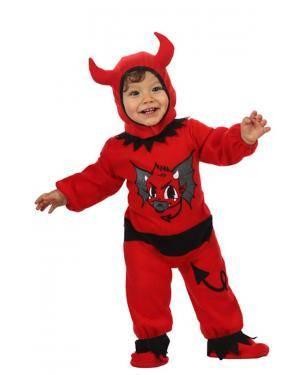 Fato Bebé Diabinho Vermelho e Preto Disfarces A Casa do Carnaval.pt