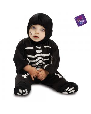 Fato Bebé Esqueleto para Carnaval
