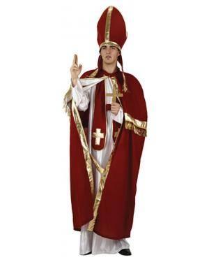Fato Bispo Vermelho Adulto Disfarces A Casa do Carnaval.pt
