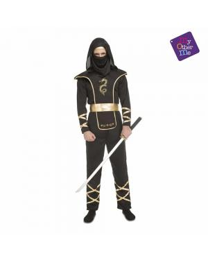 Fato Black Ninja Adulto para Carnaval