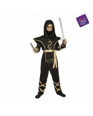 Fato Black Ninja Criança para Carnaval