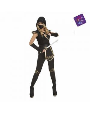 Fato Black Ninja Woman para Carnaval