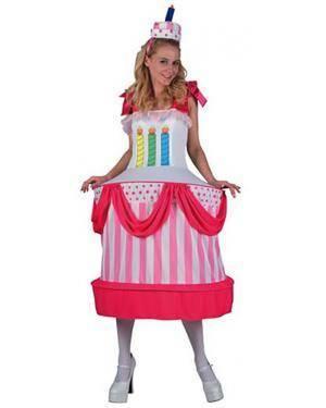 Fato Bolo de Aniversário Adulto Disfarces A Casa do Carnaval.pt
