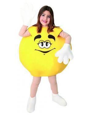 Fato Bombom M&M Amarelo Crianças Disfarces A Casa do Carnaval.pt