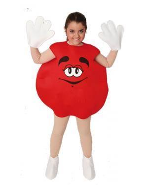 Fato Bombom M&M Vermelho Crianças Disfarces A Casa do Carnaval.pt