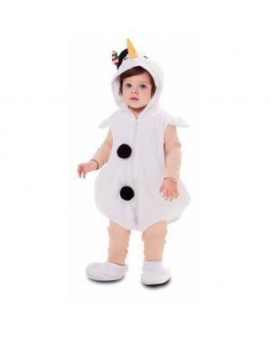 Fato Boneca de Neve Bebé para Carnaval