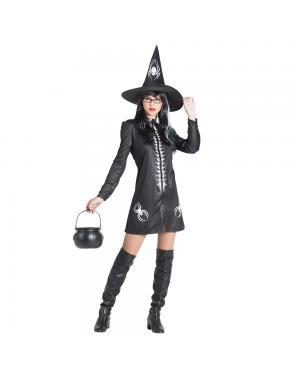 Fato Bruxa Aranha para Carnaval