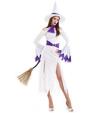 Fato Bruxa Branca T. M/L Disfarces A Casa do Carnaval.pt
