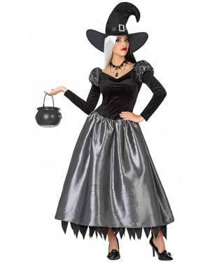 Fato Bruxa Elegante Adulto para Carnaval