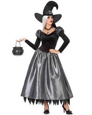 Fato Bruxa Laranja Adulto para Carnaval