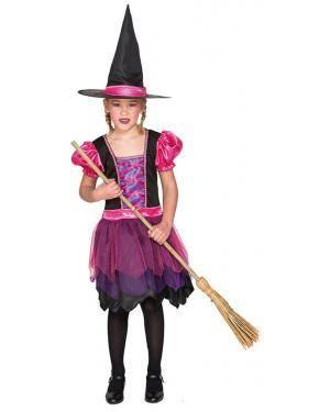 Fato Bruxa Lila de 7-9 anos Disfarces A Casa do Carnaval.pt