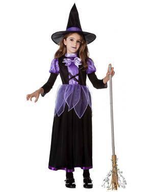 Fato Bruxa Lilas 10-12 Anos Disfarces A Casa do Carnaval.pt