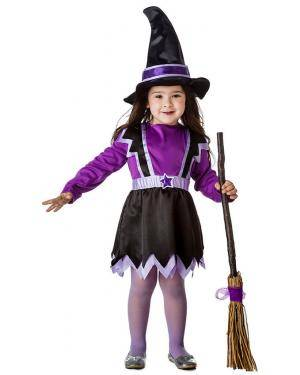 Fato Bruxa Lilas 5-6 Anos Disfarces A Casa do Carnaval.pt