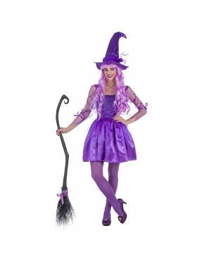 Fato Bruxa Lilás para Carnaval