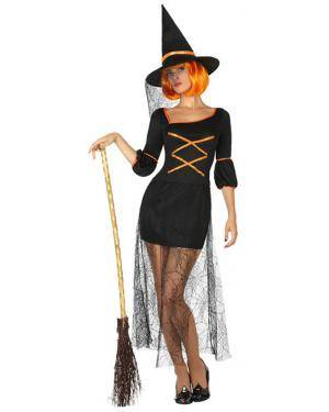 Fato Bruxa Preta Mulher Adulto M/L Disfarces A Casa do Carnaval.pt