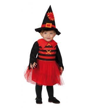 Fato Bruxa Vermelha Bebé Disfarces A Casa do Carnaval.pt