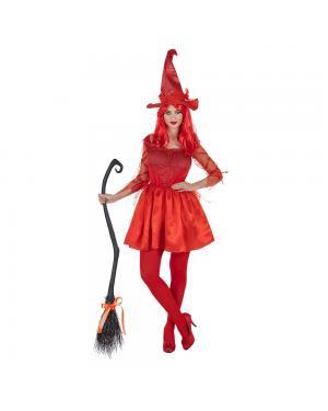 Fato Bruxa Vermelha para Carnaval