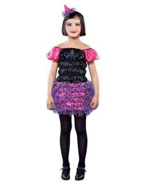 Fato Bruxinha Lilás Halloween Disfarces A Casa do Carnaval.pt