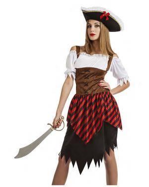Fato Bucaneira Pirata T. XL Disfarces A Casa do Carnaval.pt