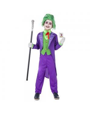 Fato Buffoon Maligno Menino para Carnaval
