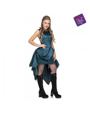Fato Burlesca Can Can Azul M/L para Carnaval