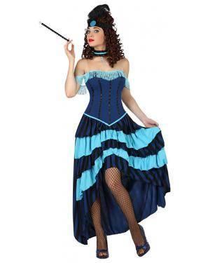 Fato Cabaret Anos 20 Azul Adulto, Loja de Fatos Carnaval, Disfarces, Artigos para Festas, Acessórios de Carnaval, Mascaras, Perucas 116 acasadocarnaval.pt