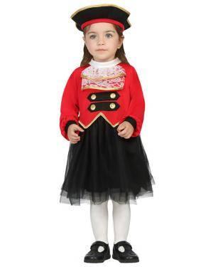 Fato Capitã Pirata Bebé de 12-24 meses Disfarces A Casa do Carnaval.pt