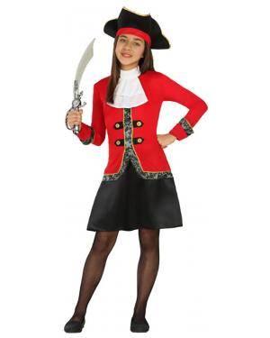 Fato Capitã Pirata Menina de 10-12 anos, Loja de Fatos Carnaval, Disfarces, Artigos para Festas, Acessórios de Carnaval, Mascaras, Perucas 56 acasadocarnaval.pt