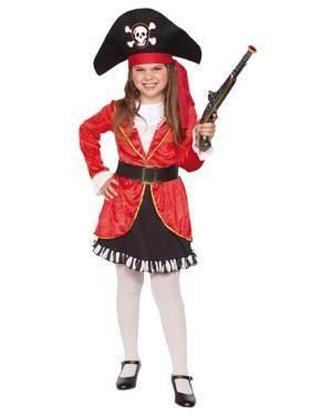 Fato Capitã Pirata Menina Disfarces A Casa do Carnaval.pt