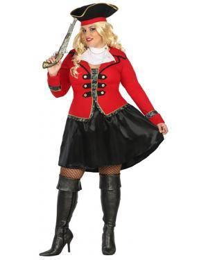 Fato Capitã Pirata Mulher Adulto XXL Disfarces A Casa do Carnaval.pt