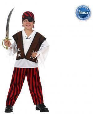 Fato Capitán Pirata Menino Disfarces A Casa do Carnaval.pt