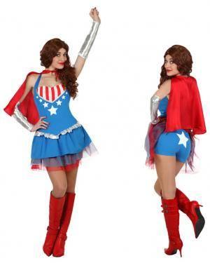 Fato Capitão América Mulher Disfarces A Casa do Carnaval.pt