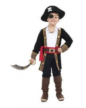 Fato Capitão Pirata 7-9 Anos Disfarces A Casa do Carnaval.pt