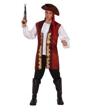 Fato Capitão Pirata Adulto Disfarces A Casa do Carnaval.pt