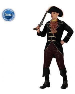Fato Capitão Pirata Elegante Adulto Disfarces A Casa do Carnaval.pt