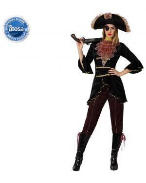 Fato Capitão Pirata Elegante Mulher Disfarces A Casa do Carnaval.pt