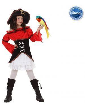 Fato Capitão Pirata Menina Disfarces A Casa do Carnaval.pt