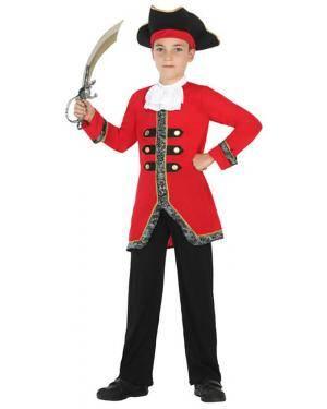 Fato Capitão Pirata Menino de 7-9 anos Disfarces A Casa do Carnaval.pt