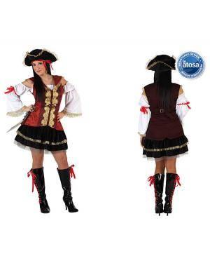 Fato Capitão Pirata Mulher Disfarces A Casa do Carnaval.pt