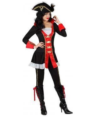 Fato Capitão Pirata Preto Mulher Disfarces A Casa do Carnaval.pt