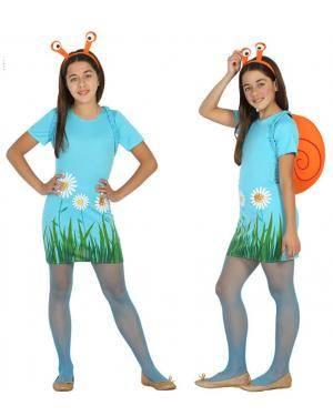 Fato Caracol Menina de 10-12 anos Disfarces A Casa do Carnaval.pt