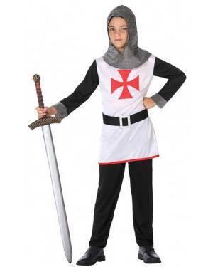 Fato Cavaleiro Cruzadas Infantil para Carnaval