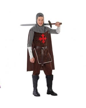 Fato Cavaleiros das Cruzadas Juvenil para Carnaval