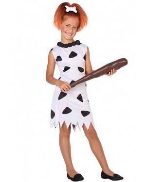 Fato Cavernícola Wilma Infantil para Carnaval