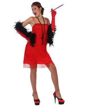 Fato Charleston Anos 20 Vermelho Adulto Disfarces A Casa do Carnaval.pt