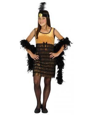 Fato Charleston Dourado Menina de 10-12 anos Loja Fatos Carnaval, Disfarces, Artigos de Festas, Acessórios de Carnaval, Mascaras, Perucas 376 acasadocarnaval.pt