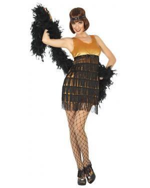 Fato Charleston Dourado Mulher Adulto XS/S Disfarces A Casa do Carnaval.pt