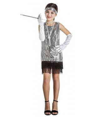 Fato Charleston Prata 7-9 Anos Disfarces A Casa do Carnaval.pt