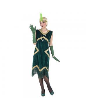 Fato Charleston Verde Luxo para Carnaval
